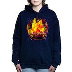Dauntless Flaming Pixels Women's Hooded Sweatshirt