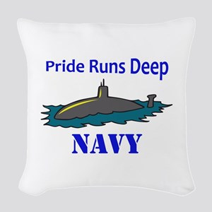 PRIDE RUNS DEEP Woven Throw Pillow