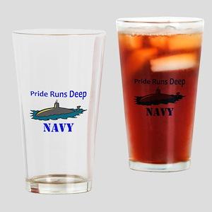PRIDE RUNS DEEP Drinking Glass