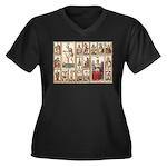 Italian Tarot, Vintage Plus Size T-Shirt