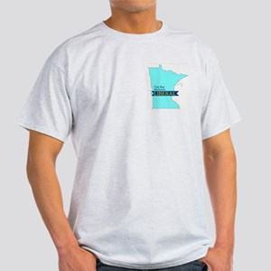 True Blue Minnesota LIBERAL Ash Grey T