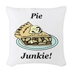 Pie Junkie Woven Throw Pillow