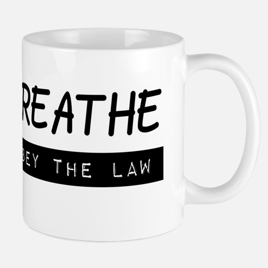 I can breathe (black on white) Mug