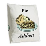 Pie Addict Burlap Throw Pillow