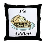 Pie Addict Throw Pillow