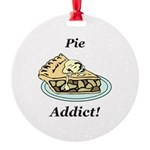 Pie Addict Round Ornament