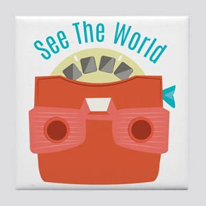 See The World Tile Coaster