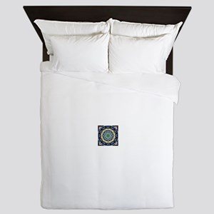 Sacred Circle of Love, Peace, and Harm Queen Duvet
