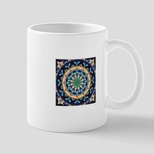 Sacred Circle of Love, Peace, and Harmony Blu Mugs