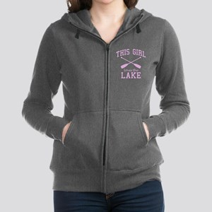 This Girl Loves the Lake Women's Zip Hoodie