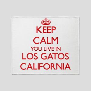 Keep calm you live in Los Gatos Cali Throw Blanket