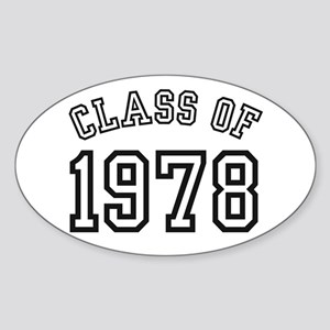 Class of 1978 Oval Sticker