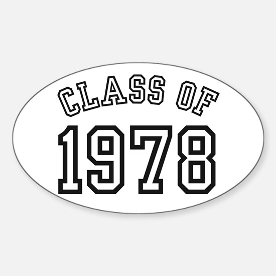 Class of 1978 Oval Decal