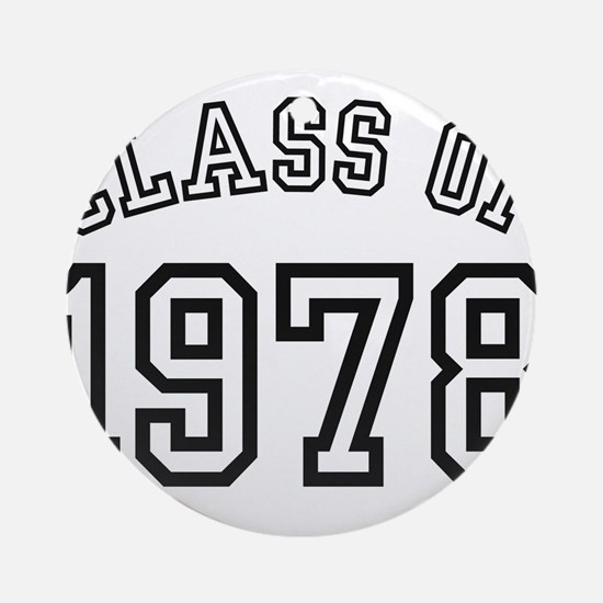 Class of 1978 Ornament (Round)