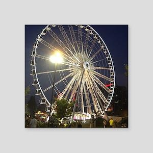 """Ferris Wheel Wonder Square Sticker 3"""" x 3"""""""