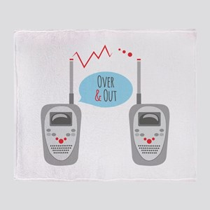 Over & Out Throw Blanket