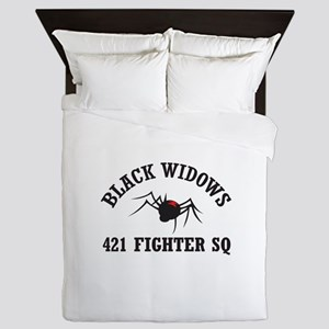 BLACK WIDOW SQUADRON Queen Duvet