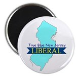 "2.25"" Magnet(10 pack) True Blue New Jersey LIBERAL"