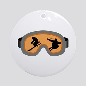 SKIERS GOGGLES Ornament (Round)