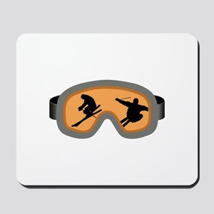 SKIERS GOGGLES Mousepad