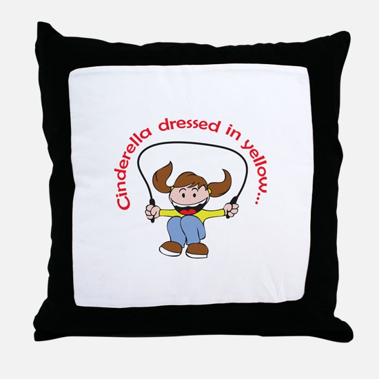 JUMP ROPE RHYME Throw Pillow