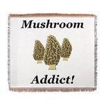 Mushroom Addict Woven Blanket