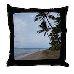 Maui Beach Palms Throw Pillow