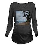 Maui Beach Palms Long Sleeve Maternity T-Shirt