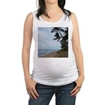 Maui Beach Palms Maternity Tank Top