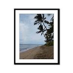 Maui Beach Palms Framed Panel Print