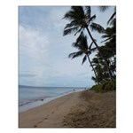 Maui Beach Palms Posters Small Poster