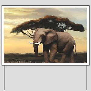 Animals, Elephant Yard Sign