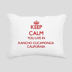 Keep calm you live in Ra Rectangular Canvas Pillow