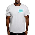 True Blue Connecticut LIBERAL Ash Grey T-Shirt