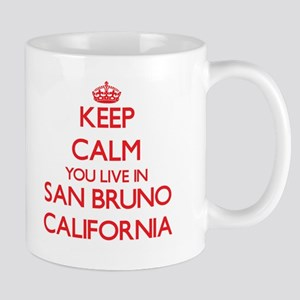 Keep calm you live in San Bruno California Mugs