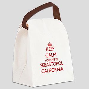 Keep calm you live in Sebastopol Canvas Lunch Bag
