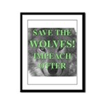 Help Idaho Wolves Framed Panel Print