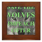 Help Idaho Wolves Framed Tile
