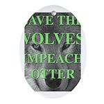 Help Idaho Wolves Oval Ornament