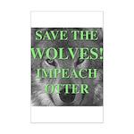 Help Idaho Wolves Mini Poster Print