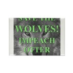 Help Idaho Wolves Rectangle Magnet (10 pack)