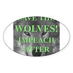 Help Idaho Wolves Oval Sticker