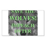 Help Idaho Wolves Rectangle Sticker