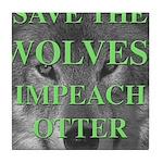 Help Idaho Wolves Tile Coaster