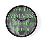 Help Idaho Wolves Wall Clock