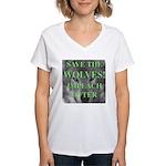 Help Idaho Wolves Women's V-Neck T-Shirt