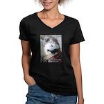 """""""Animal Rescue"""" V-Neck Dark T-Shirt"""