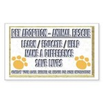 """""""Pet adoption and rescue"""" Rectangle Sticker"""
