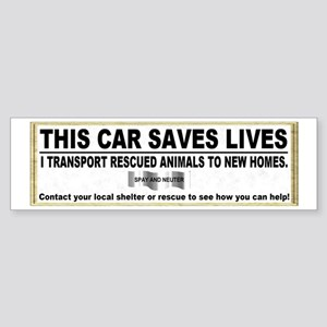 """This Car Saves Lives"" (bumper) Bumper S"