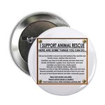 """""""I support animal rescue"""" Button (10 pack)"""